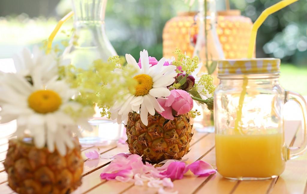 ananas-deko-blumenvase