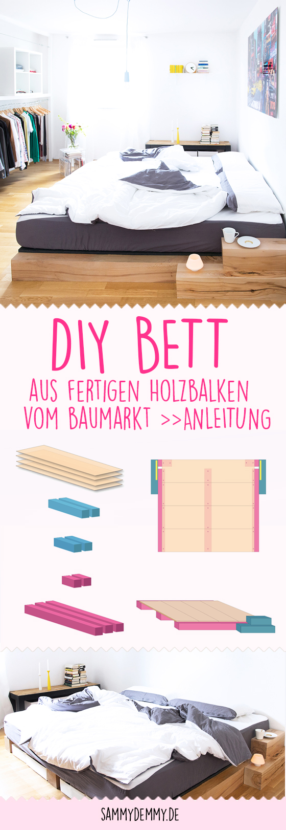 diy bett gallery of bett selber bauen ikea hack diy hochbett aus by nele robsi with diy bett. Black Bedroom Furniture Sets. Home Design Ideas