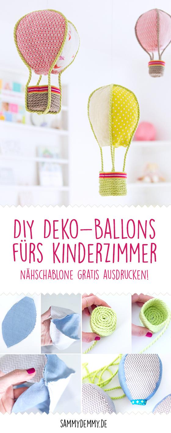 DIY Deko-Ballons fürs Kinderzimmer nähen • www.sammydemmy.de