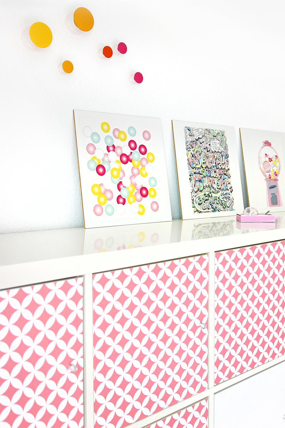 Möbel mit Klebefolie verzieren