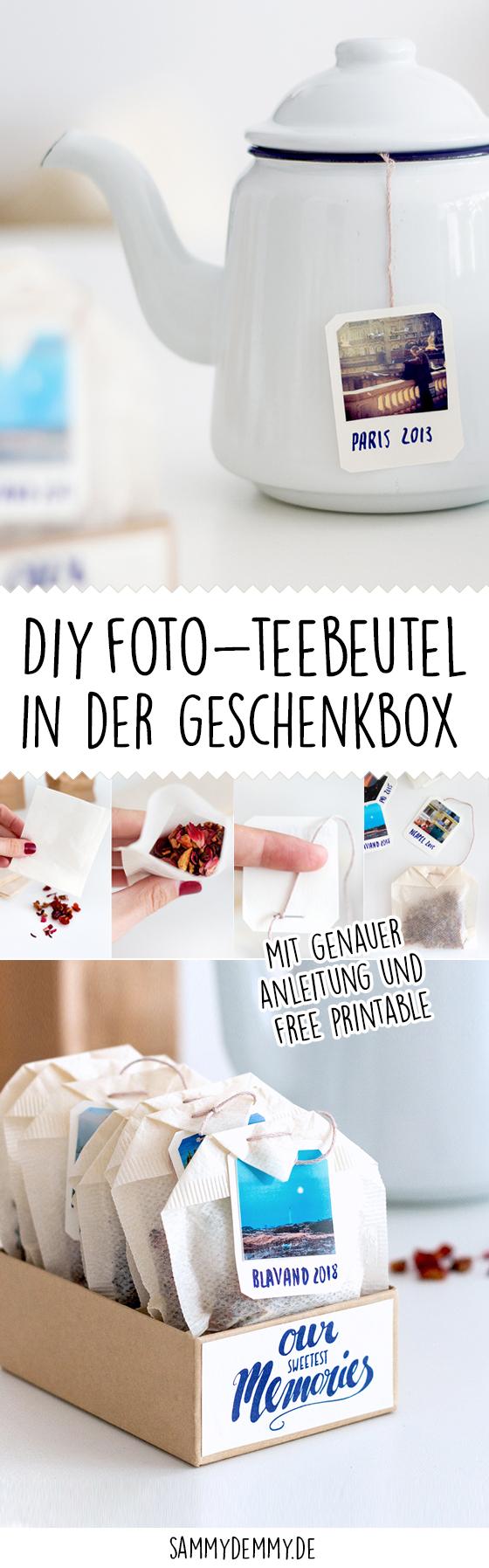 Diy tasse und teebeutel als foto geschenk - Fotogeschenke diy ...